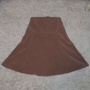 Tan suede skirt small